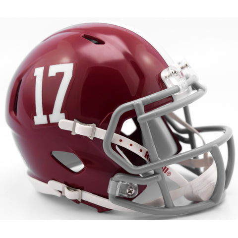 Alabama Crimson Tide #17 Riddell Speed Mini Helmet