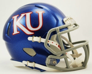 Kansas Jayhawks Riddell Speed Mini Helmet - KU Logo