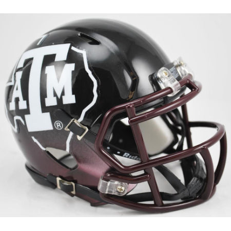 Texas A&M Aggies Riddell Speed Mini Helmet - 2012 Black