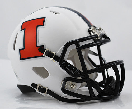 Illinois Fighting Illini Riddell Speed Mini Helmet - 2014 White Discontinued Style