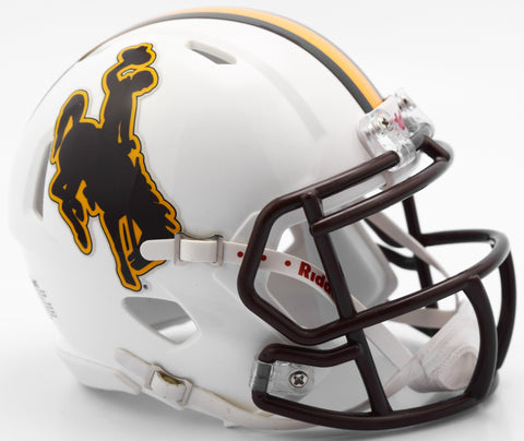 Wyoming Cowboys Riddell Speed Mini Helmet