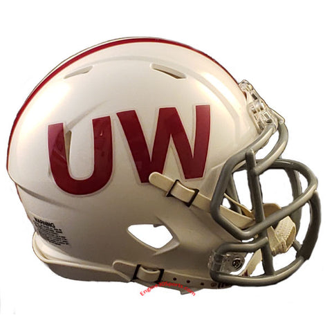 Wisconsin Badgers Riddell Speed Mini Helmet - UW Throwback