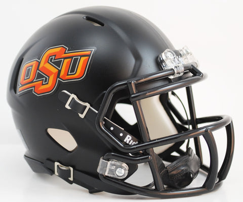 Oklahoma State Cowboys Riddell Speed Mini Helmet - Matte Black