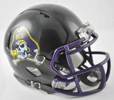 East Carolina Pirates Riddell Speed Mini Helmet - Black Alternate