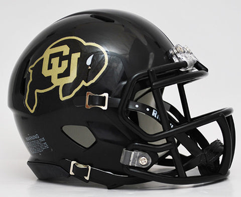 Colorado Buffaloes Riddell Speed Mini Helmet - Black Alternate