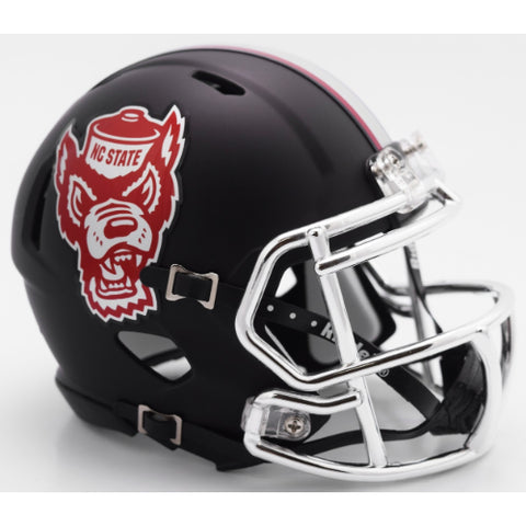 North Carolina State Wolfpack Riddell Speed Mini Helmet - Black Howl