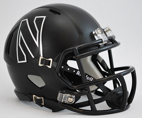 Northwestern Wildcats Riddell Speed Mini Helmet - Black N
