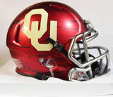 Oklahoma Sooners Riddell Speed Mini Helmet - Bring The Wood Hydro Red 2