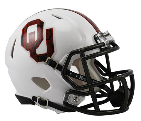 Oklahoma Sooners Riddell Speed Mini Helmet - Bring The Wood