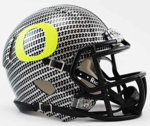 Oregon Ducks Riddell Speed Mini Helmet - Carbon Fiber Alternate