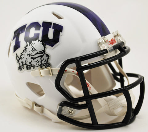 TCU Horned Frogs Riddell Speed Mini Helmet - Frog Skin Alternate