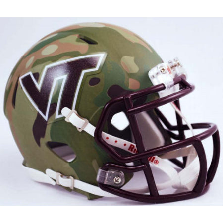 Virginia Tech Hokies Riddell Speed Mini Helmet - Hydo Green Camo