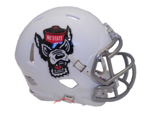 North Carolina State Wolfpack Riddell Speed Mini Helmet - 2018 Ice Wolf
