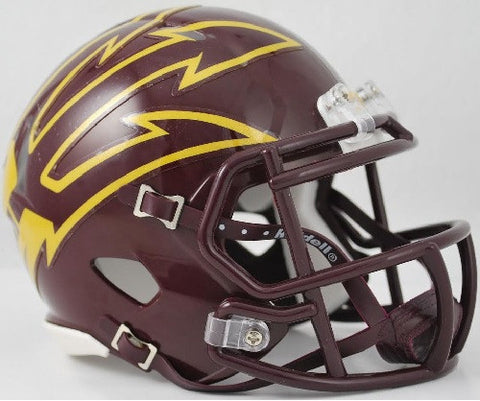Arizona State Sun Devils Riddell Speed Mini Helmet - Maroon with Large Pitchfork