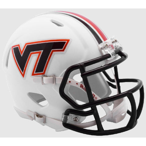 Virginia Tech Hokies Matte White Riddell Speed Mini Helmet