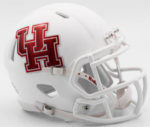 Houston Cougars Riddell Speed Mini Helmet - Matte White Alternate