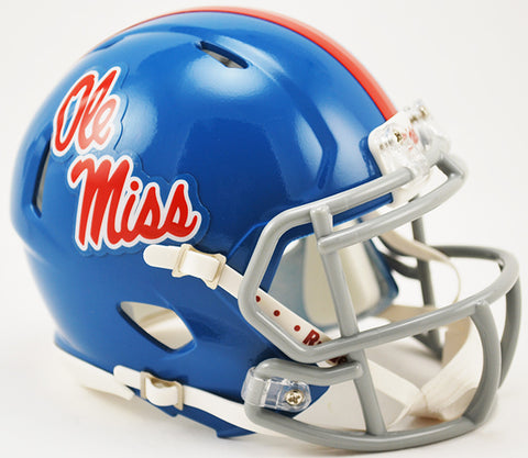 Mississippi Rebels Riddell Speed Mini Helmet - Powder Blue