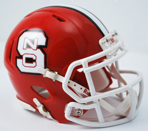 North Carolina State Wolfpack Riddell Speed Mini Helmet - Red