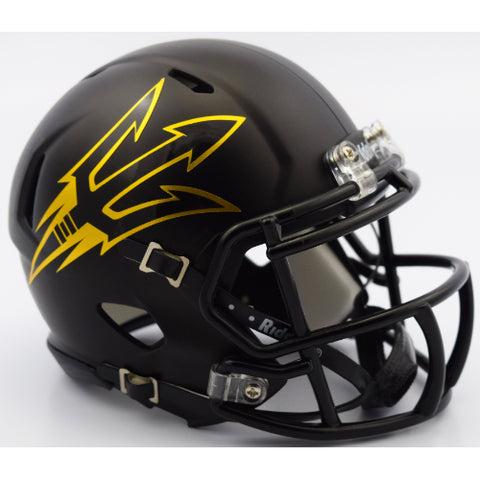 Arizona State Sun Devils Riddell Speed Mini Helmet - Satin Black