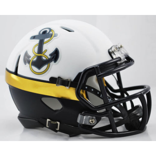 Navy Midshipmen Riddell Speed Mini Helmet - 2012 Alternate