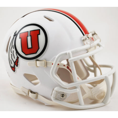 Utah Utes Riddell Speed Mini Helmet - 2015 White Alternate
