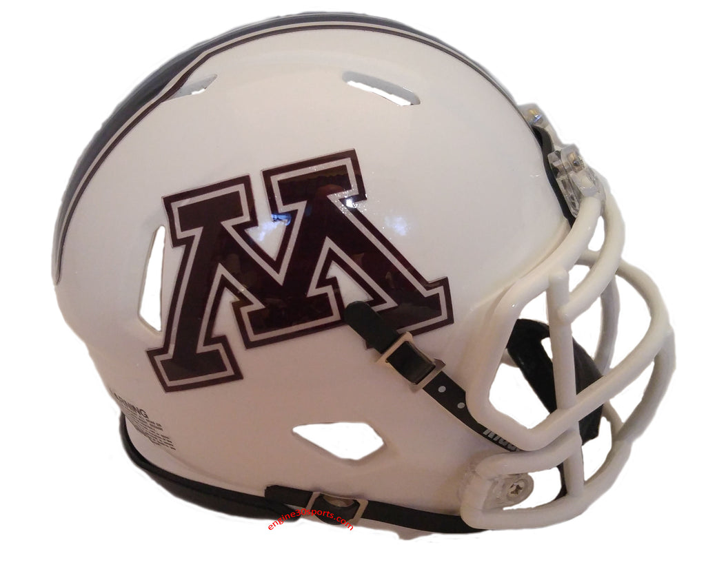 Minnesota Golden Gophers Riddell Speed Mini Helmet - 2018 White