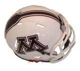 Minnesota Golden Gophers Riddell Speed Mini Helmet - 2018 White top