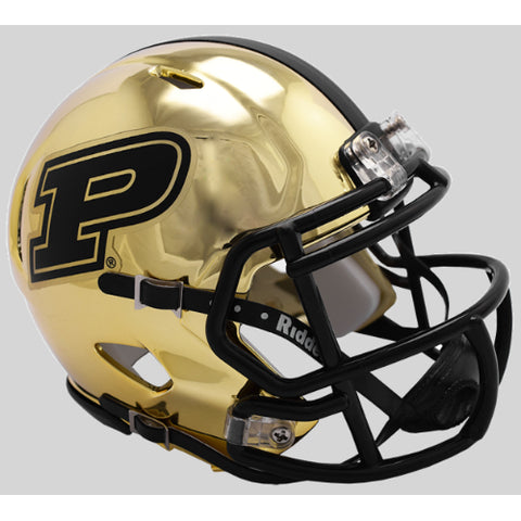 Purdue Boilermakers Riddell Chrome Speed Mini Helmet