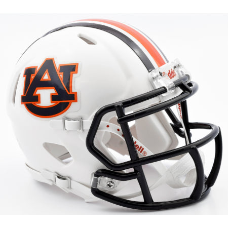 Auburn Tigers Riddell Speed Mini Helmet - Chrome Decal