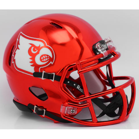 Louisville Cardinals Riddell Speed Mini Helmet - Chrome