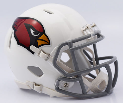 Arizona Cardinals 2016 Color Rush Riddell Speed Mini Helmet - Chrome Decal