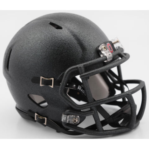 Ohio State Buckeyes Riddell Speed Mini Helmet - Flat Cannon Grey