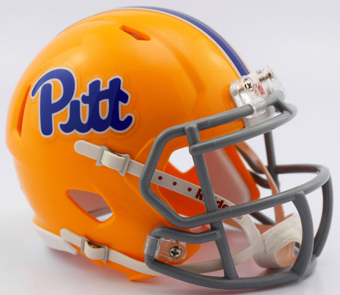 Pitt Panthers Riddell Speed Mini Helmet - Gold Throwback