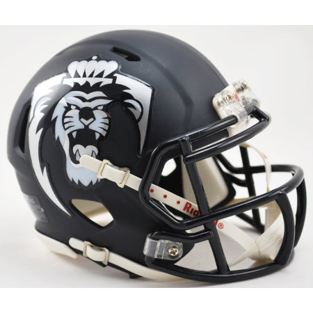 Old Dominion Monarchs Riddell Speed Mini Helmet - Matte Navy with Lion