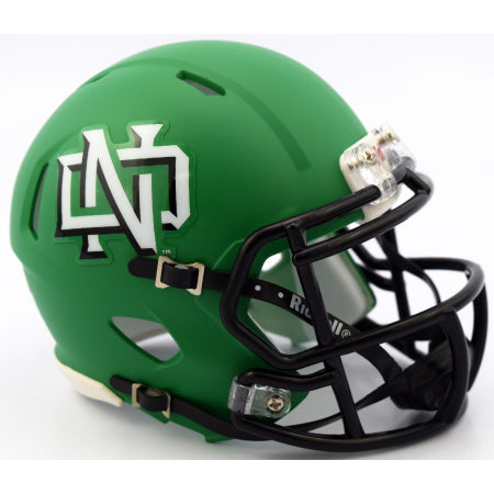 North Dakota Fighting Hawks Riddell Speed Mini Helmet - Matte Kelly Green