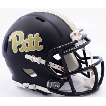 Pitt Panthers Riddell Speed Mini Helmet - Navy