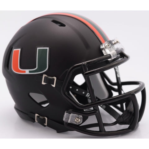 Miami Hurricanes Riddell Speed Mini Helmet - Nights Alternate