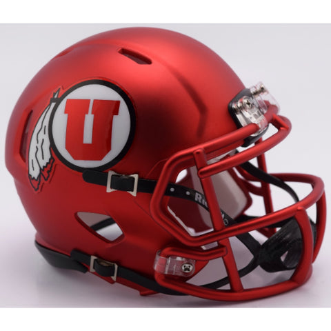 Utah Utes Riddell Speed Mini Helmet - Satin Red