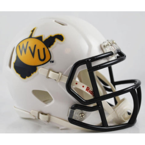 West Virginia Mountaineers Riddell Speed Mini Helmet - Throwback Style Alternate