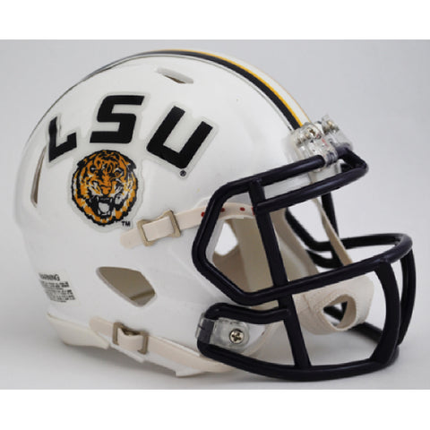 LSU Tigers Riddell Speed Mini Helmet - White Alternate