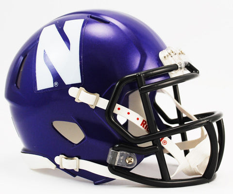Northwestern Wildcats Riddell Speed Mini Helmet