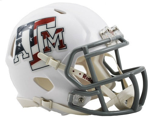 Texas A&M Aggies Riddell Speed Mini Helmet - Stars & Stripes Alternate