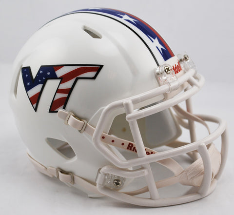 Virginia Tech Hokies Riddell Speed Mini Helmet - Stars and Stripes