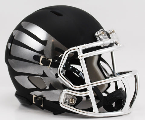 Oregon Ducks Riddell Speed Mini Helmet - Titanium Black Eclipse Alternate