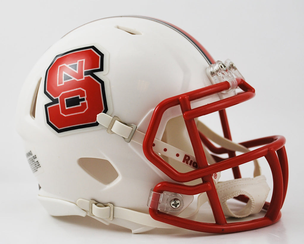 North Carolina State Wolfpack Riddell Speed Mini Helmet - White