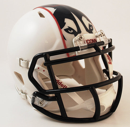 UConn Huskies White Riddell Speed Mini Helmet