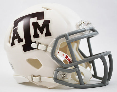 Texas A&M Aggies Riddell Speed Mini Helmet - White Alternate