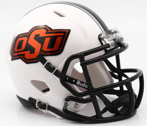 Oklahoma State Cowboys Riddell Speed Mini Helmet - White 2016 Alternate