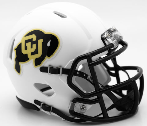Colorado Buffaloes Riddell Speed Mini Helmet - White Alternate