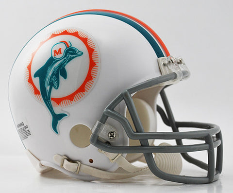 Miami Dolphins Throwback 1972 Riddell Z2B Mini Helmet
